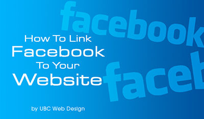 How to link facebook to website