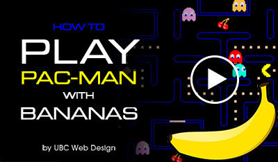 Makey Makey - Pac-man with banana
