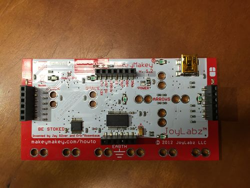 The back face of the Makey Makey board