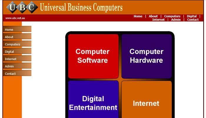 UBC Web Design 2005-2007