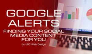 Google Alerts - Finding your social media content for you